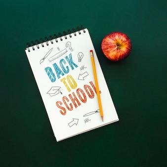 Back to school mockup notebook