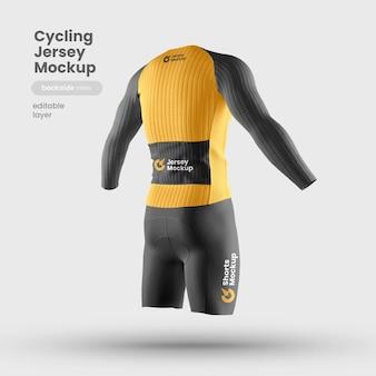 Back view of bike jersey mockup
