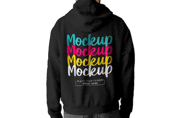 Back view hoodie mockup