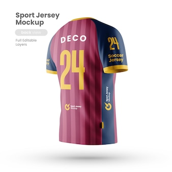 Back view of sport jersey mockup