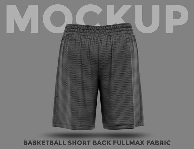 Back view training black short mockup