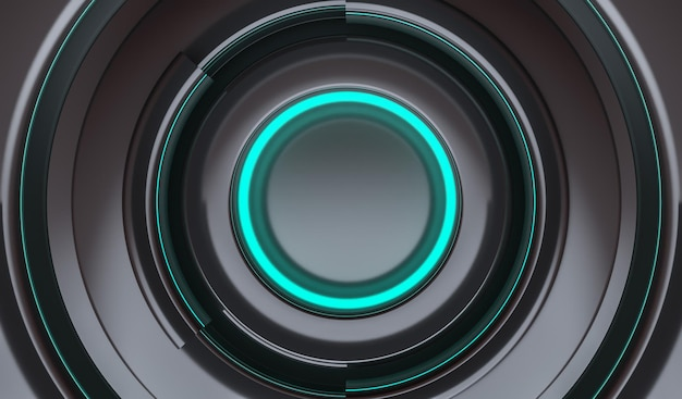 Background futuristic circles neon blue