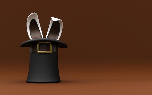 Background top hat with rabbit