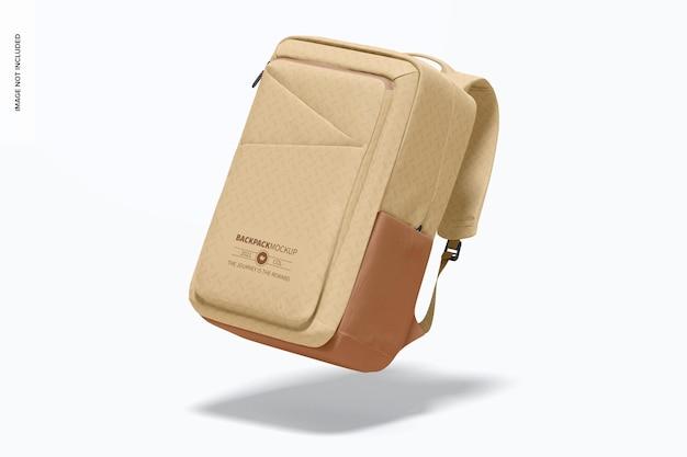 Backpack mockup, falling