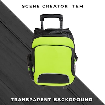 Backpack object transparent psd
