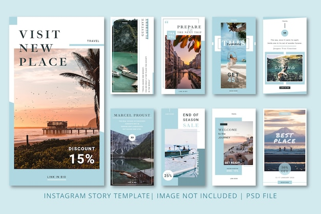 Backpackers instagram stories graphic template