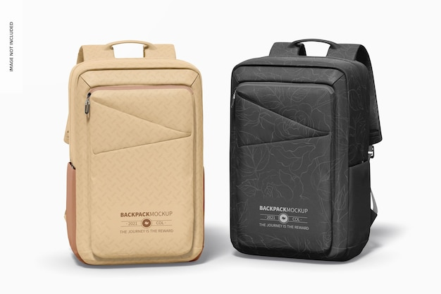 Backpacks mockup, front view
