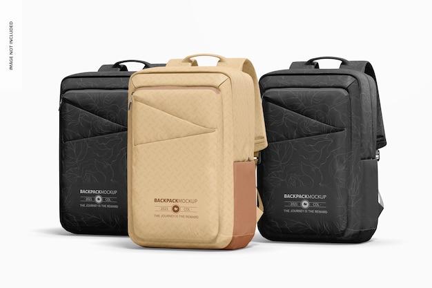 Backpacks set mockup