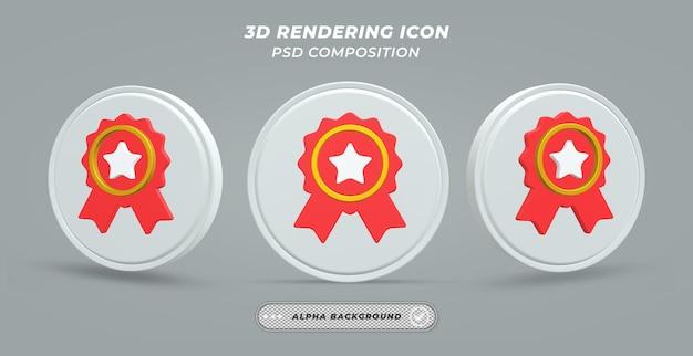 Значок значка в 3d renderin