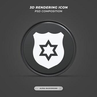 Значок значка в 3d-рендеринге