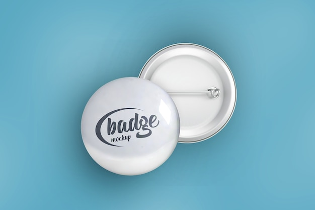 Badges mockup front and back isolated