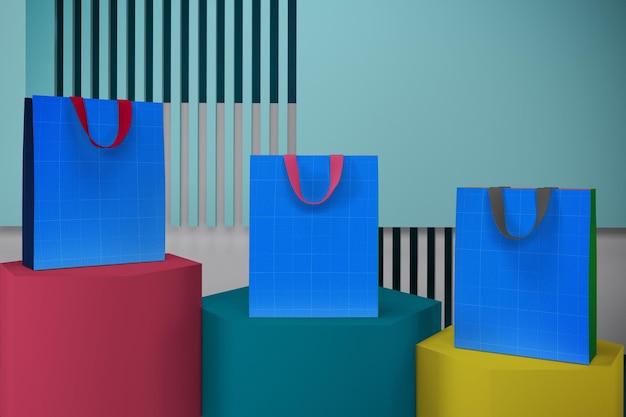 Мокап дизайна сумки