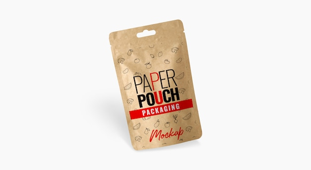 Bag paper pouch mockup