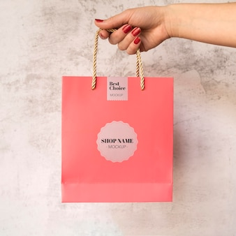 Bag with sale campaign mock-up