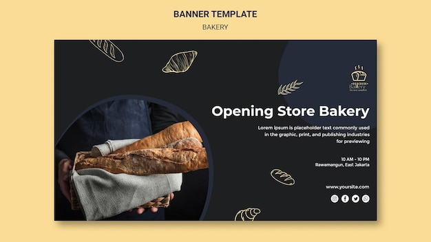 Bakery ad banner template