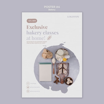 Bakery ad flyer template