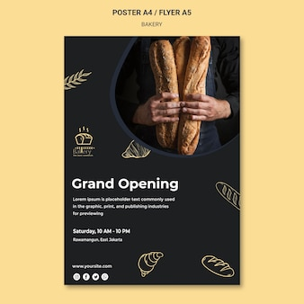 Bakery ad poster template