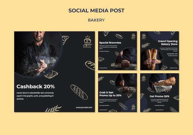 Bakery ad social media post template