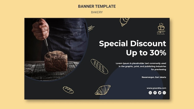 Bakery ad template banner