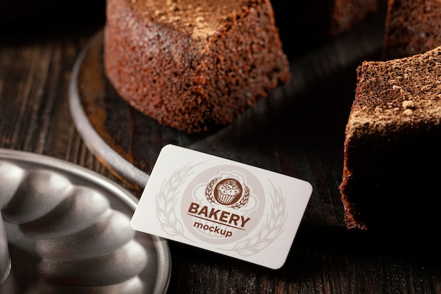 Bakery business card mock-up