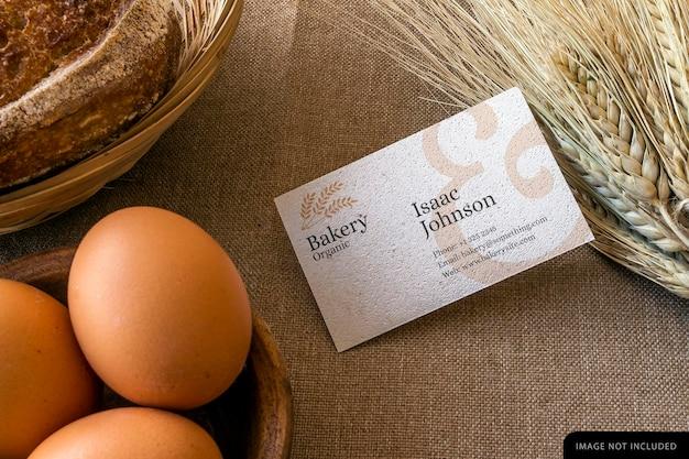 Макет визитной карточки пекарни