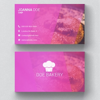 Pink business card vectors photos and psd files free download bakery business card template colourmoves