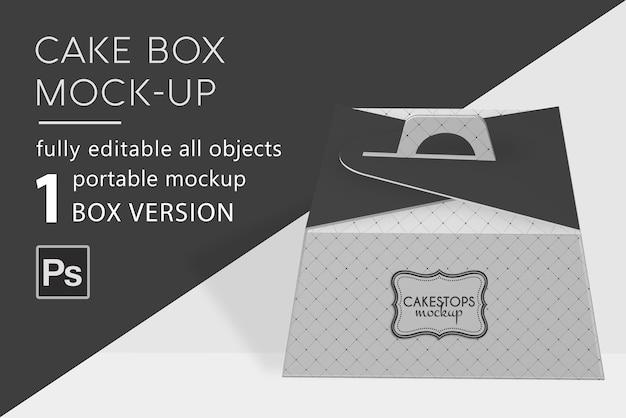 Мокап коробки для выпечки торта