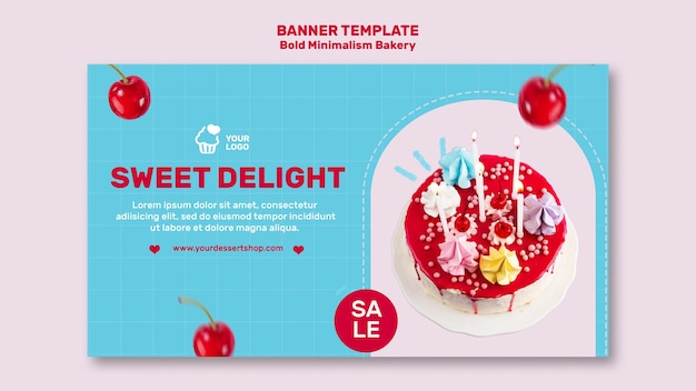 Bakery discount banner template