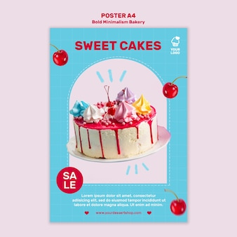 Bakery discount poster template