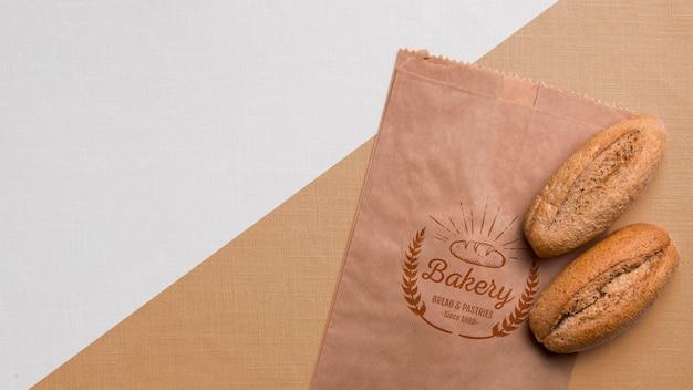 Концепция хлебобулочных изделий с макетом