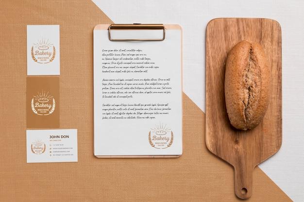 Concetto di prodotti da forno con mock-up