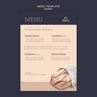 Bakery menu design template