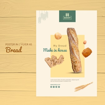 Bakery poster template design