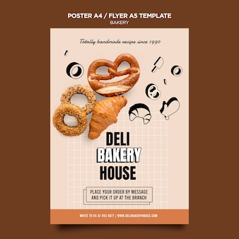 Bakery products flyer template
