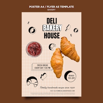 Bakery products poster template