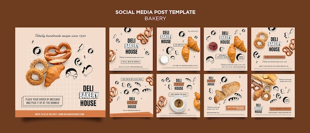 Bakery products social media post