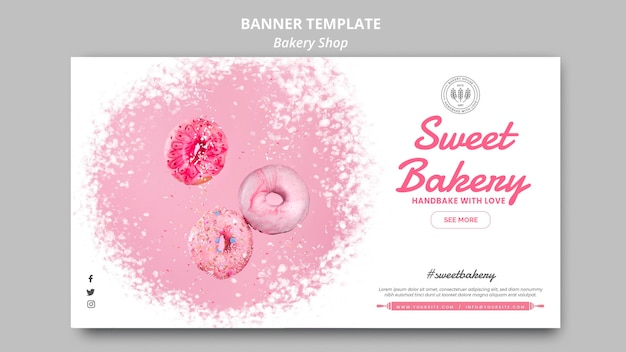 Стиль шаблона баннера пекарни