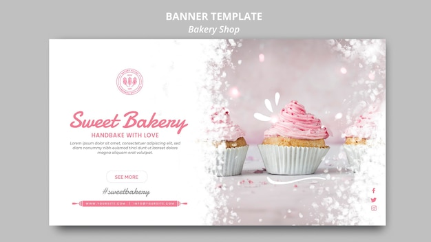 Bakery shop banner template