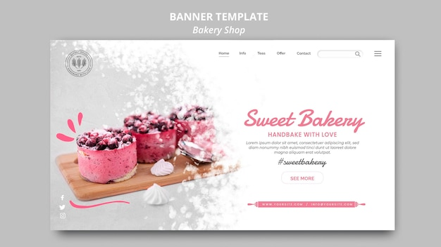 Bakery shop banner theme