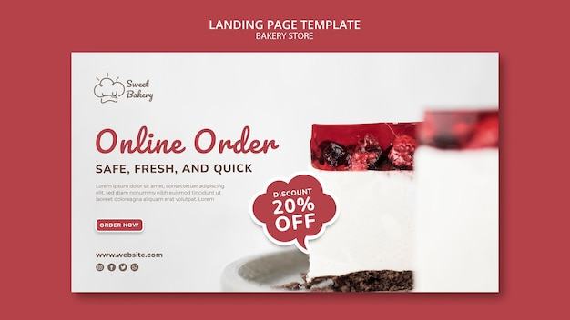 Bakery shop landing page