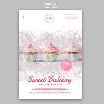 Bakery shop poster design