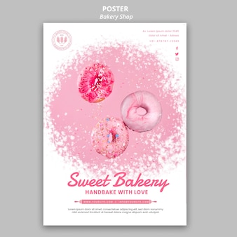 Bakery shop poster template