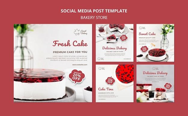 Post sui social media di prodotti da forno