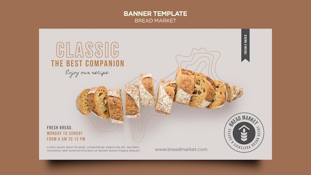 Baking bread  banner template