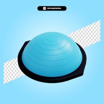 Баланс фитнес-стабилизатор 3d визуализации изолированных иллюстрация