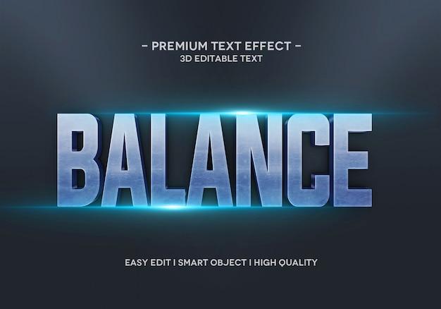 Шаблон стиля текстового эффекта баланса
