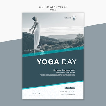 Balance your life yoga class flyer template