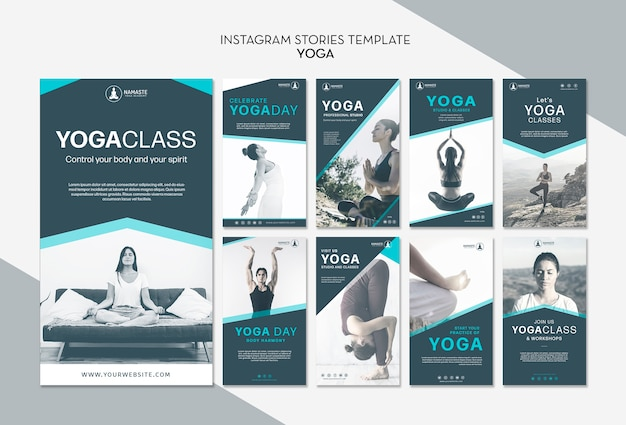 Balance your life yoga class instagram stories