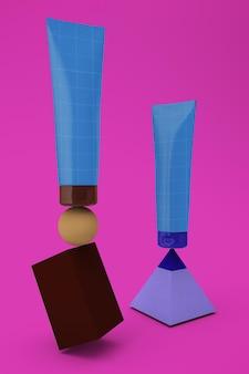 Balanced cream tube