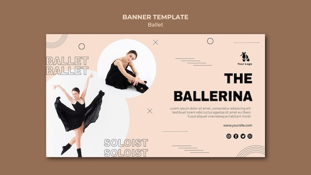 Ballet concept banner template